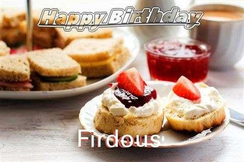 Happy Birthday Cake for Firdous