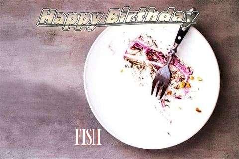 Happy Birthday Fish Cake Image