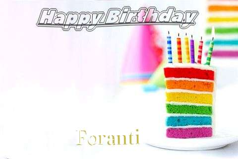 Happy Birthday Foranti Cake Image