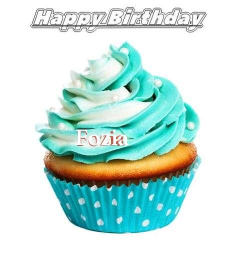 Happy Birthday Fozia Cake Image