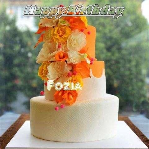 Happy Birthday Cake for Fozia