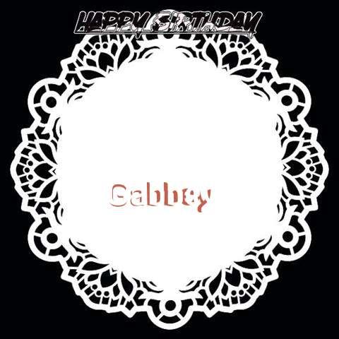 Happy Birthday Gabbey Cake Image
