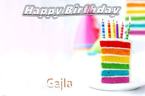 Happy Birthday Gajla Cake Image