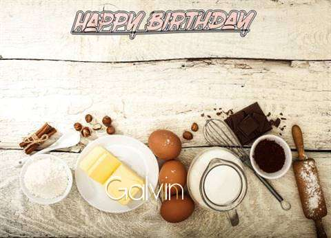 Happy Birthday Galvin Cake Image