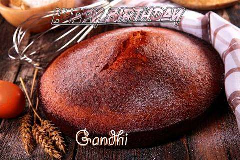 Happy Birthday Gandhi Cake Image