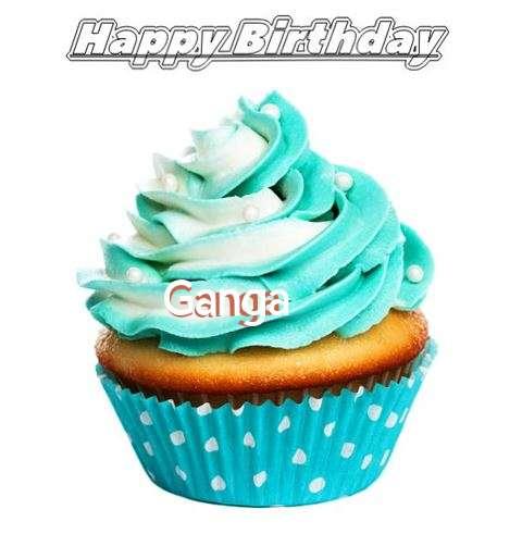 Happy Birthday Ganga Cake Image