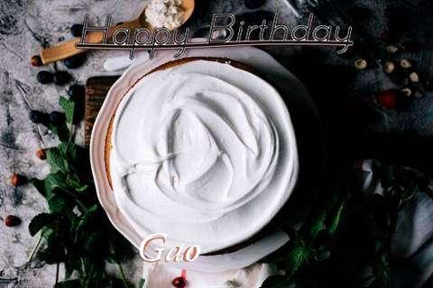 Happy Birthday Gao Cake Image