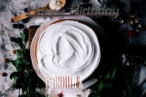 Happy Birthday Gardiner Cake Image