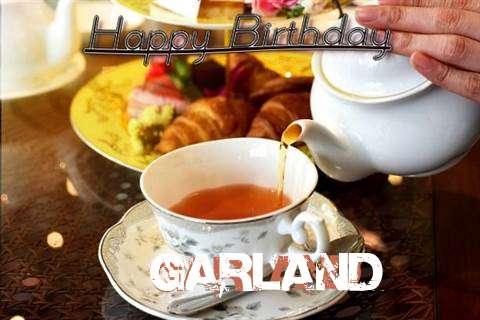 Happy Birthday Garland Cake Image