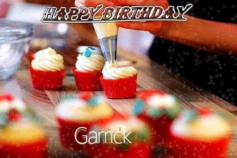 Happy Birthday Garrick Cake Image