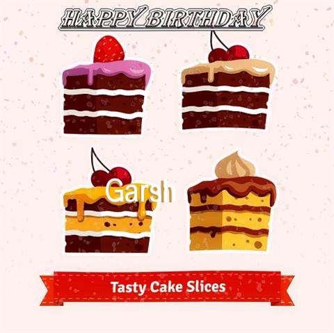 Happy Birthday Garsh Cake Image