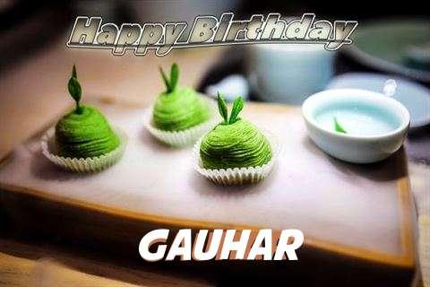 Happy Birthday Gauhar Cake Image