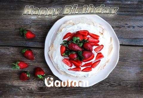 Happy Birthday Gautam Cake Image