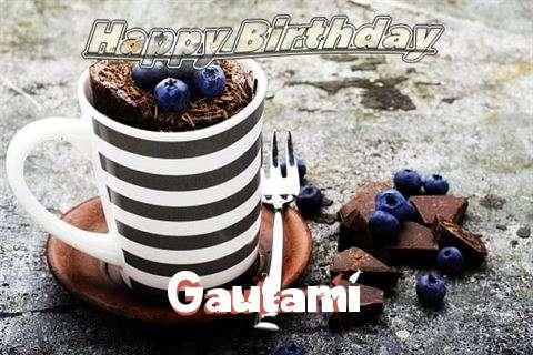 Happy Birthday Gautami Cake Image