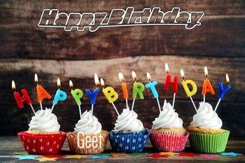 Happy Birthday Geet Cake Image