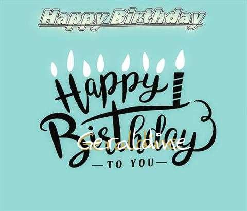 Happy Birthday Geraldine