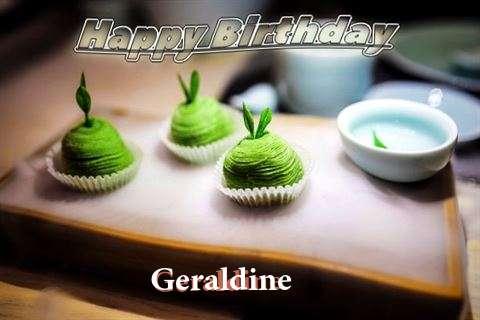 Happy Birthday Geraldine Cake Image