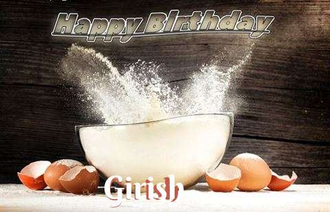 Happy Birthday Cake for Girish