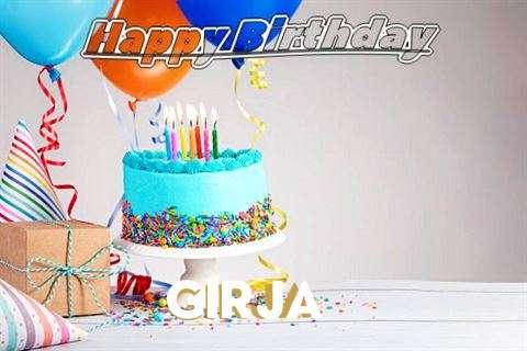 Happy Birthday Girja Cake Image