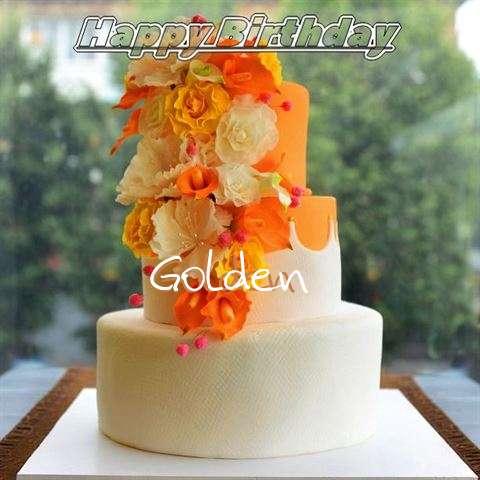 Happy Birthday Cake for Golden