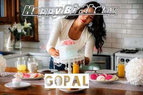 Happy Birthday Gopal Cake Image