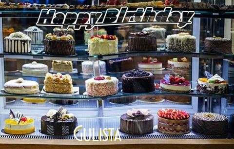 Happy Birthday Gulista Cake Image