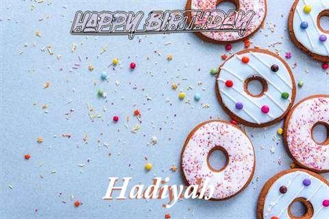 Happy Birthday Hadiyah Cake Image