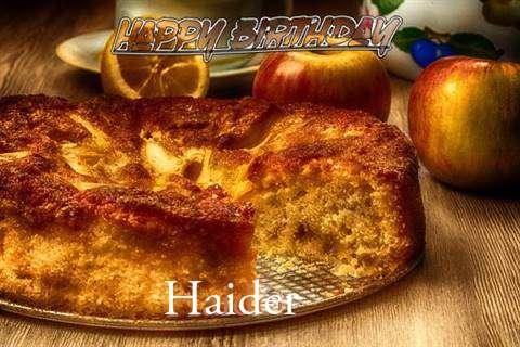 Happy Birthday Wishes for Haider