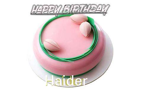 Happy Birthday Cake for Haider