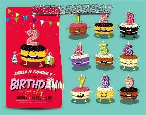Happy Birthday Haily Cake Image