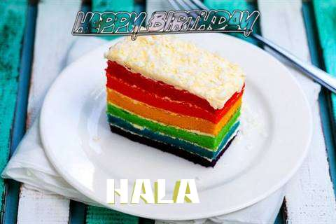Happy Birthday Hala Cake Image