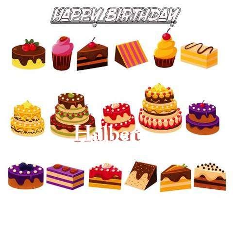 Happy Birthday Halbert Cake Image
