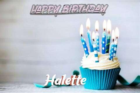 Happy Birthday Halette Cake Image