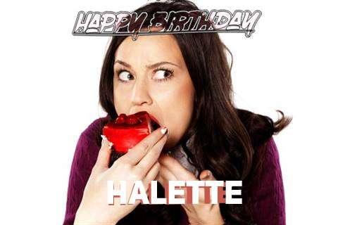 Happy Birthday Wishes for Halette