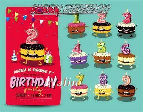 Happy Birthday Halim Cake Image