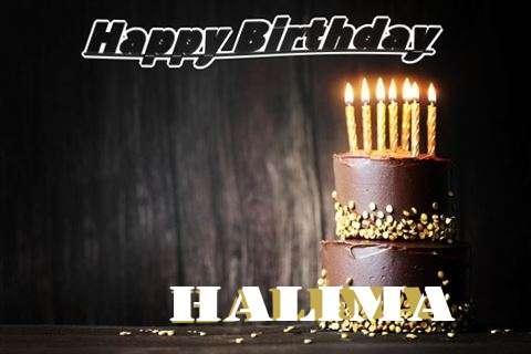 Happy Birthday Cake for Halima