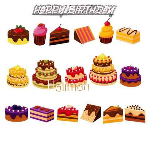 Happy Birthday Halimah Cake Image