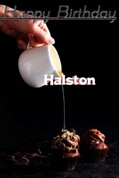 Happy Birthday Halston Cake Image