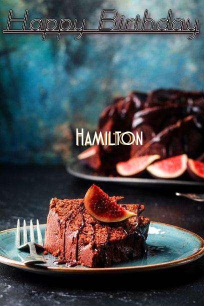 Happy Birthday Hamilton Cake Image
