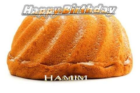 Happy Birthday Hamim Cake Image
