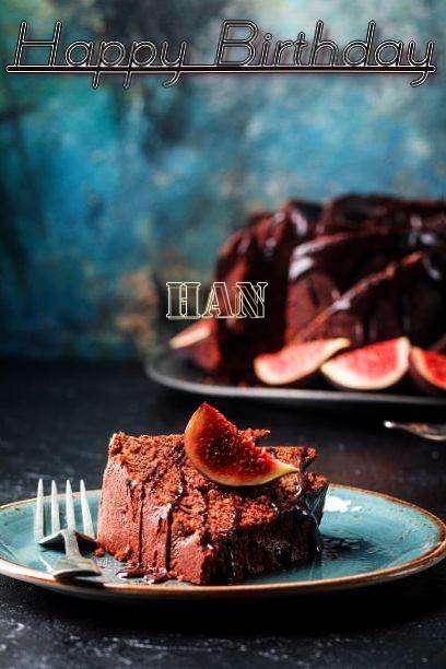 Happy Birthday Han Cake Image