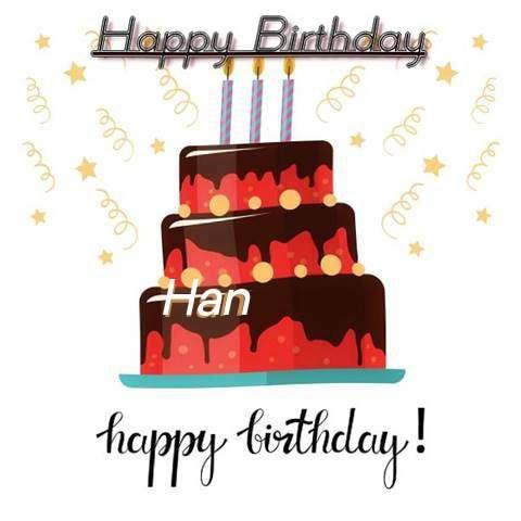 Happy Birthday Cake for Han