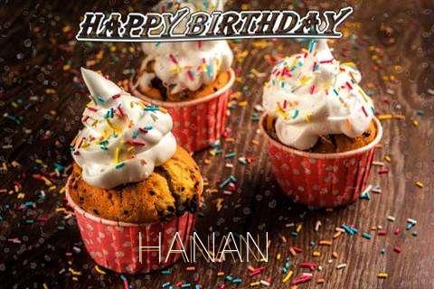 Happy Birthday Hanan Cake Image