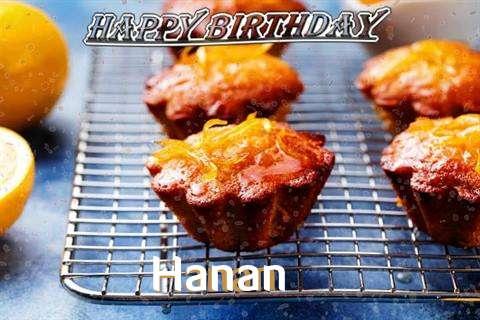 Happy Birthday Cake for Hanan