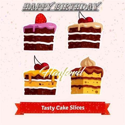 Happy Birthday Hanford Cake Image