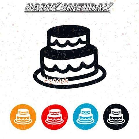 Happy Birthday Hannah Cake Image