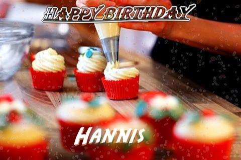 Happy Birthday Hannis Cake Image
