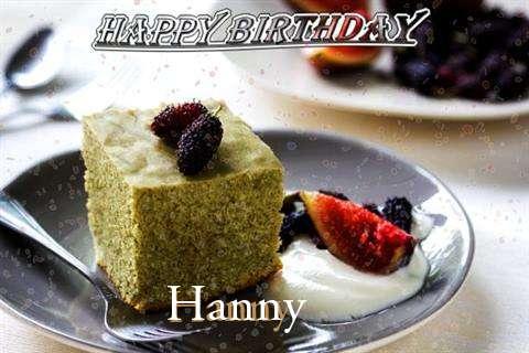 Happy Birthday Hanny Cake Image