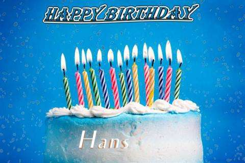 Happy Birthday Cake for Hans