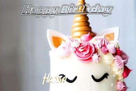 Happy Birthday Hansa Cake Image